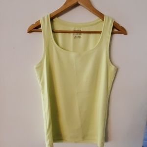 Chico's Yellow Ribbed Tank Top - 1